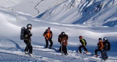 Beim Tiefschneekurs am Arlberg