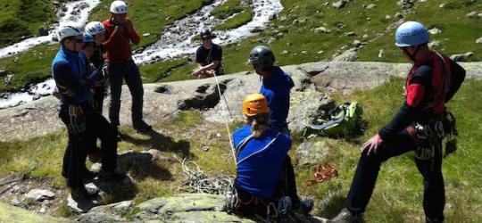 Alpiner Kletterkurs